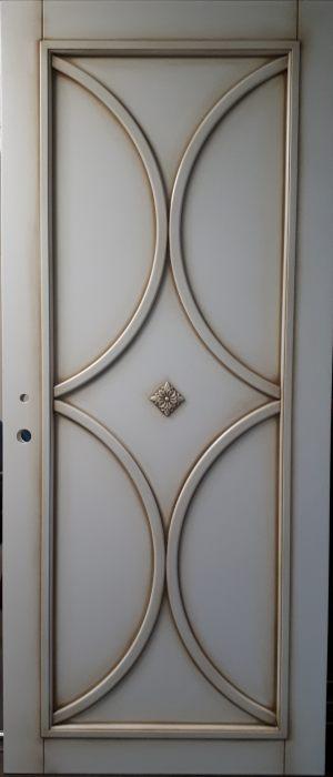 Межкомнатная дверь в профиле массив (эмаль с патиной) Королёв