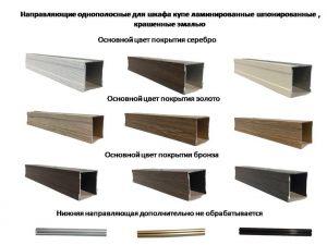 Направляющие однопосные для шкафа купе ламинированные, шпонированные, крашенные эмалью Королёв