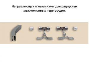 Направляющая и механизмы верхний подвес для радиусных межкомнатных перегородок Королёв